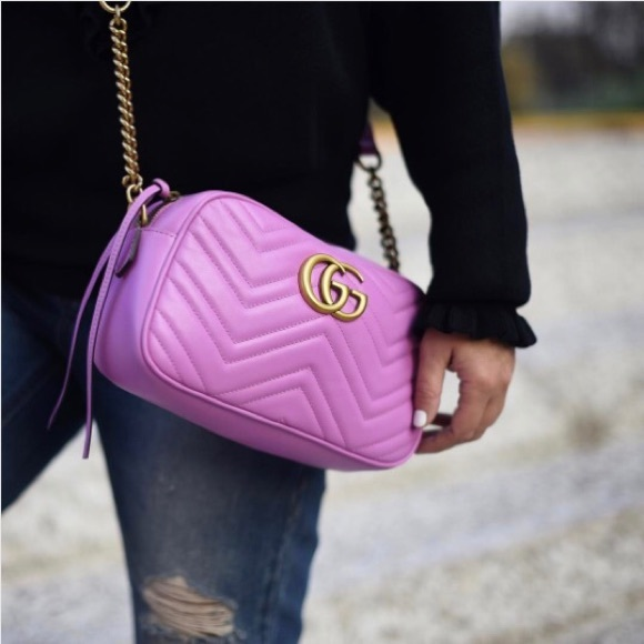 Gucci Bags Authentic Marmont Mini Camera Bag Pink Poshmark